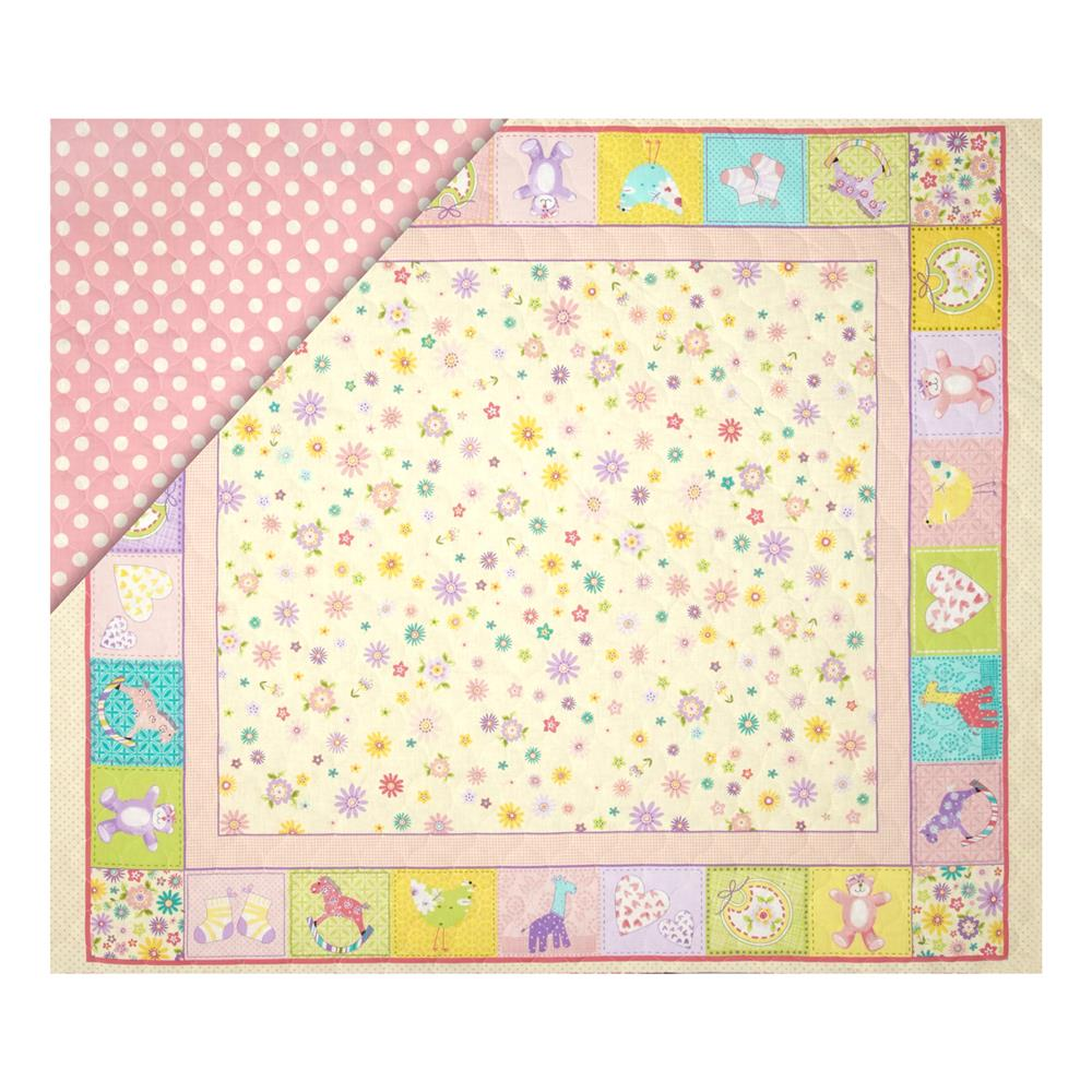 Double sided quilted 36 baby panel multi discount for Cheap baby fabric