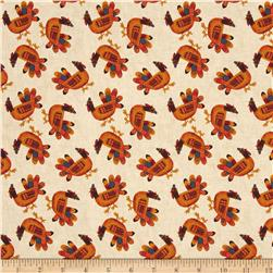 Art By Bernie Give Thanks Turkeys Ivory