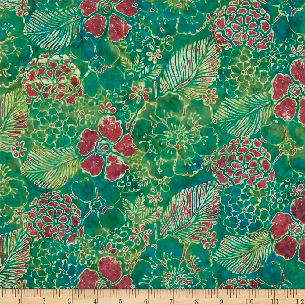 Bali Batiks Handpaints Mixed Floral Sweet Pea