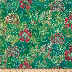 Bali Batiks Handpaints Mixed Floral Sweet Pea Fabric