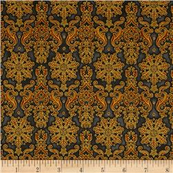 Kaufman Winter's Grandeur 4 Metallics Damask Vintage