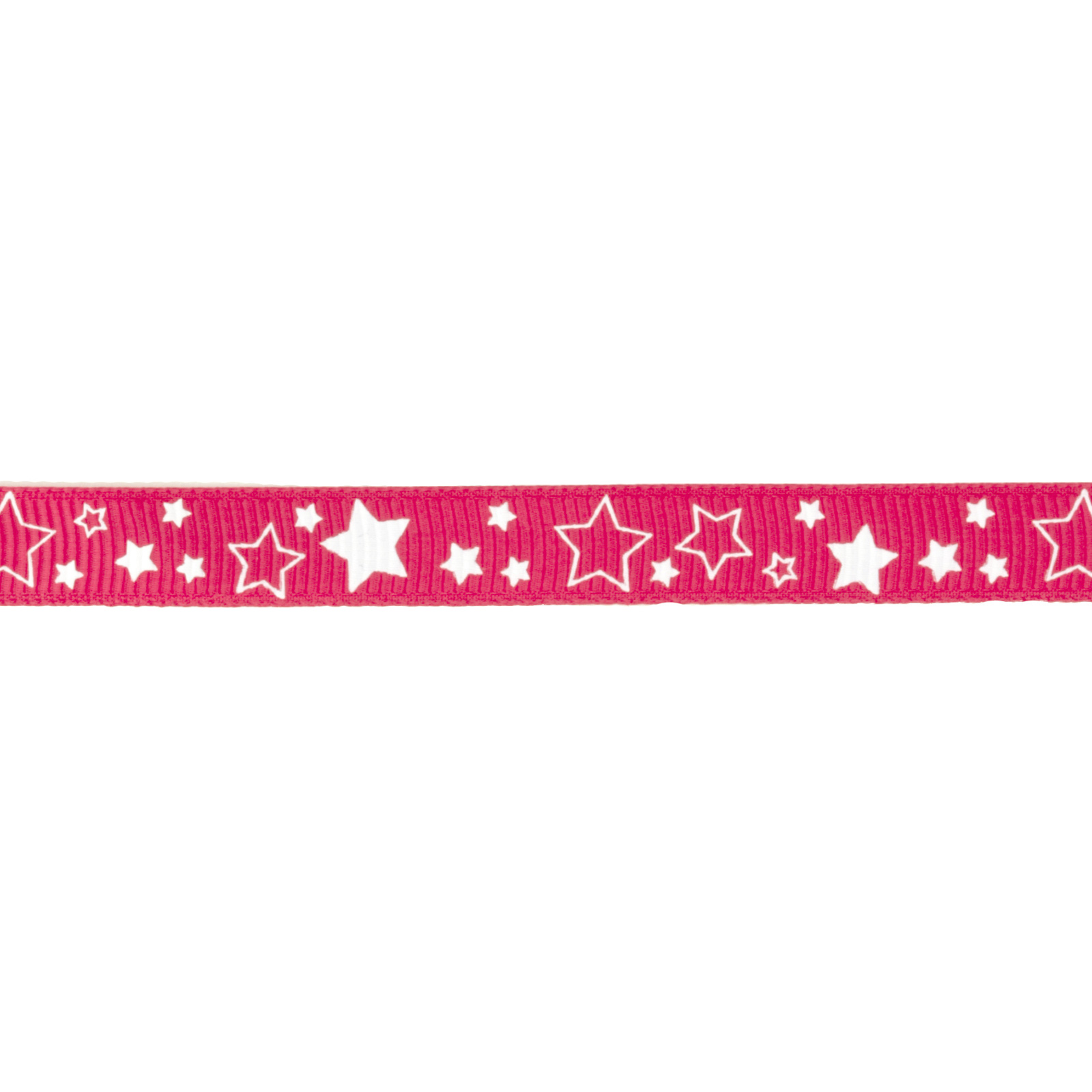 Riley Blake 3/8'' Grosgrain Ribbon Stars Hot Pink