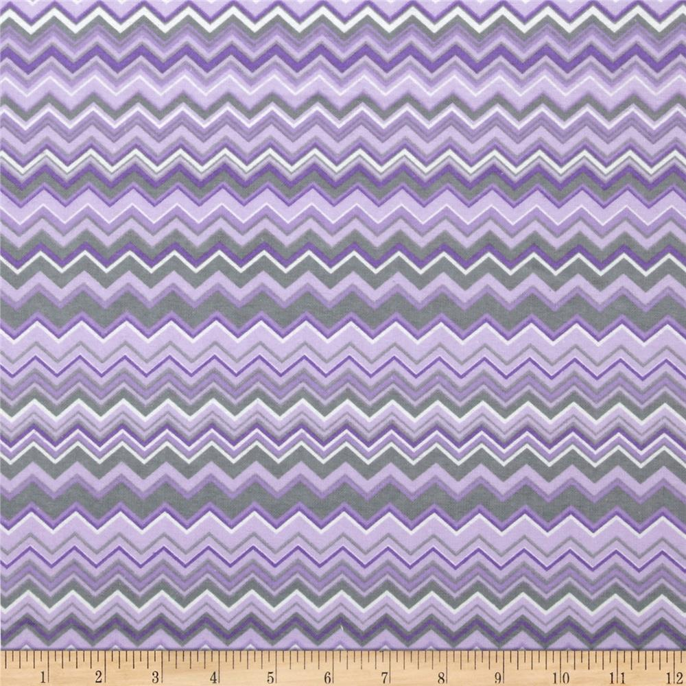 Chevron Flannel Purple