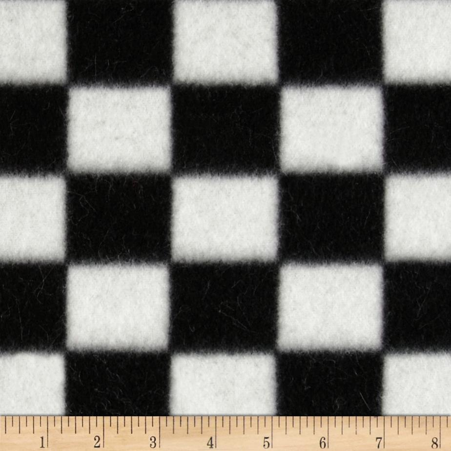Fleece Plaid Checkerboard Black/White