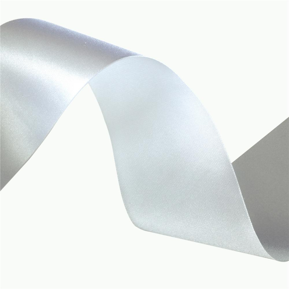 1 1/2'' Iridescent Satin Ribbon White