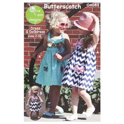 Olive Ann Designs Butterscotch Dress & Doll Dress
