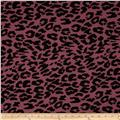 T-Shirt Jersey Knit Large Cheetah Heather Magenta/Black