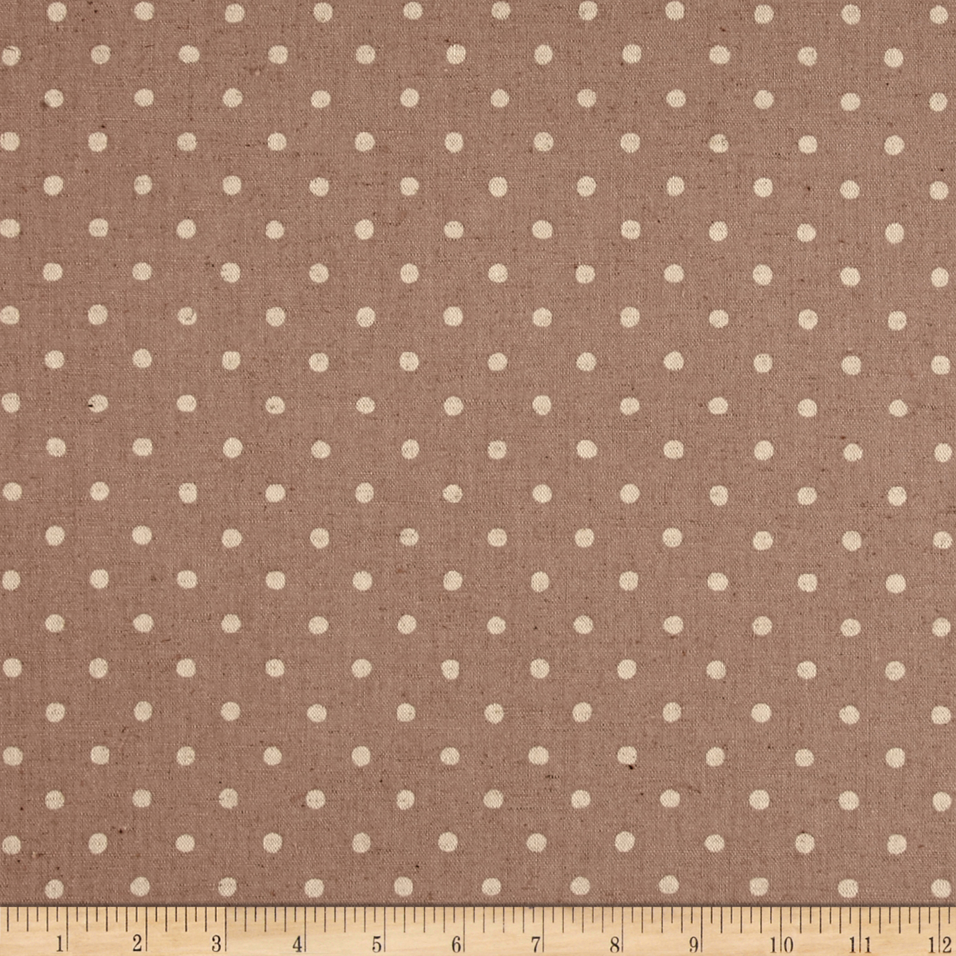 Kaufman Sevenberry Canvas Natural Dots Small Ash Fabric by Kaufman in USA