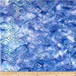 Bali Batiks Handpaints Diamond Border Periwinkle Fabric