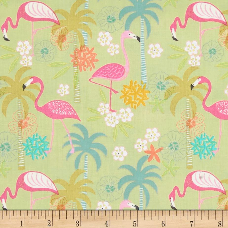 Tropicana Flamingos & Palms Green