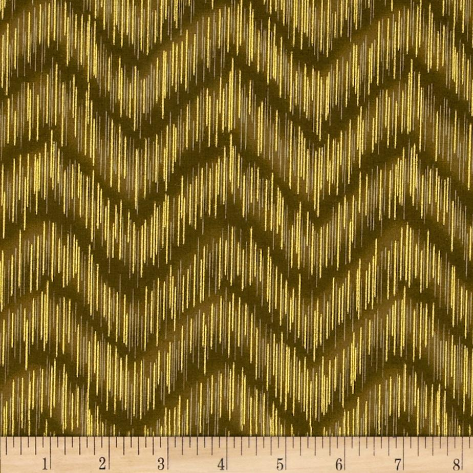 Imperial Collection Metallics Dash Chevron Taupe