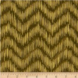Imperial Collection Metallics Dash Chevron Taupe Fabric