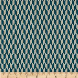 Laredo Chevron Geometric Dark Teal