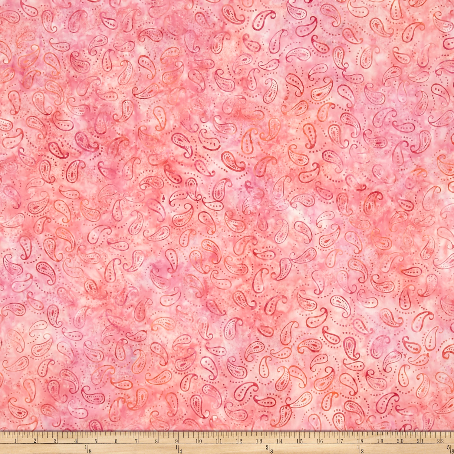 Wilmington Batiks Mini Paisley Pink Fabric by MM Fab in USA