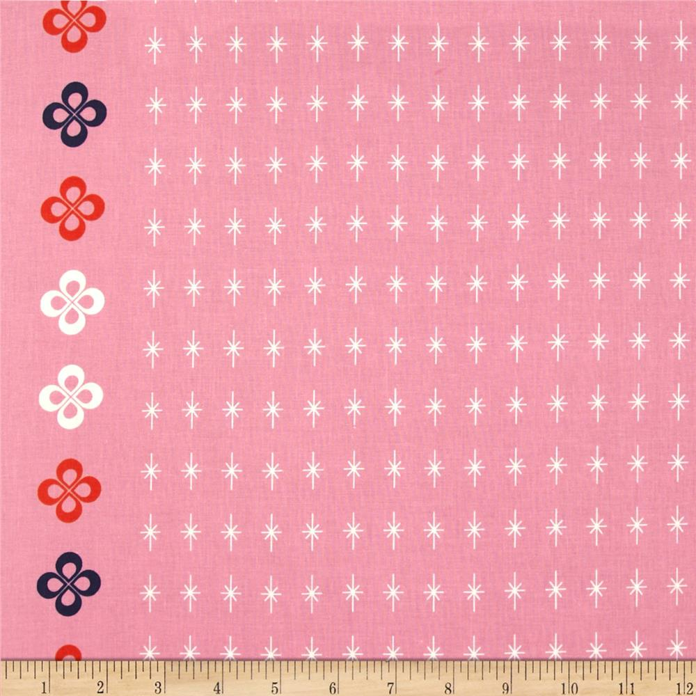 Cotton + Steel Mustang Single-Border Stars Pink