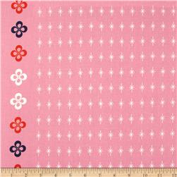 Cotton & Steel Mustang Single-Border Stars Pink