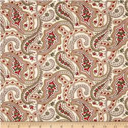 Always the Season Large Paisley Ivory
