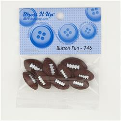 Dress It Up Embellishment Buttons  Football