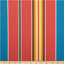 Kaufman Serape Stripes Shirting Red