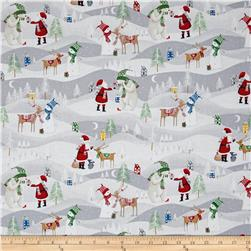 Santa's Little Helpers Scenic Grey