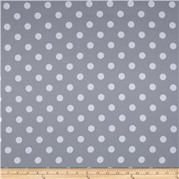 RCA Polka Dots Blackout Drapery Fabric Grey