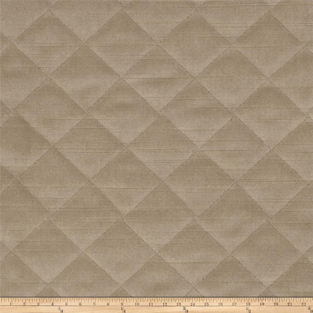 Fabricut Quilted Velvet Taupe