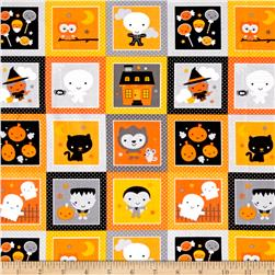 Riley Blake Ghouls & Goodies Glow in the Dark Patches Orange
