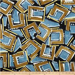 Contempo Precious Metals Frames Teal Black Ground