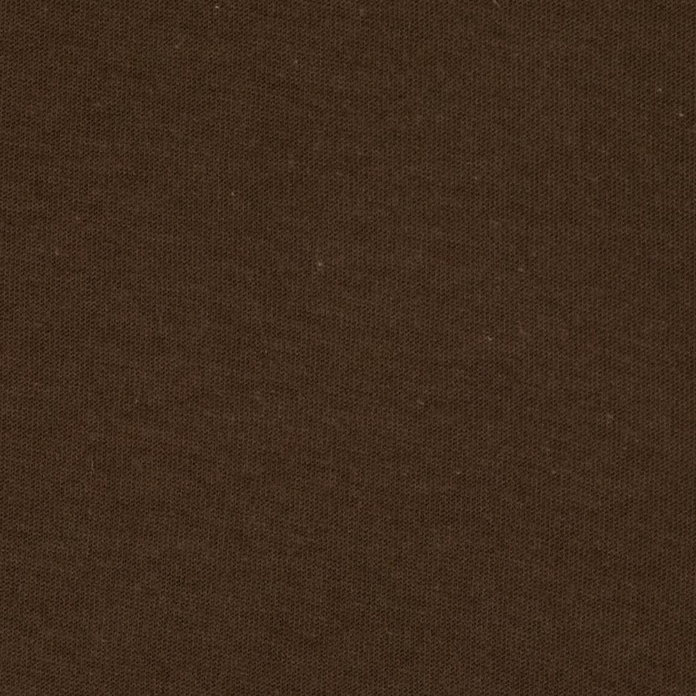 Organic Cotton Jersey Knit Chocolate Brown Discount