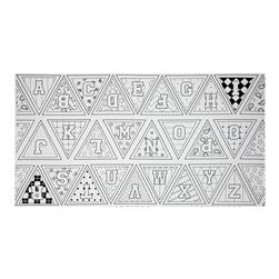 "Let's Color Pennants 23.5"" Panel White"