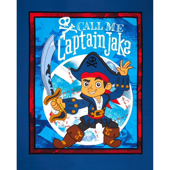 "Disney Jake & The Neverland Pirates Captain Jake Panel-36"" Blue"