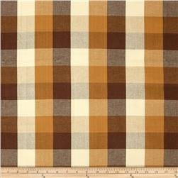 Bartow Buffalo Check Plaid Woven Brass