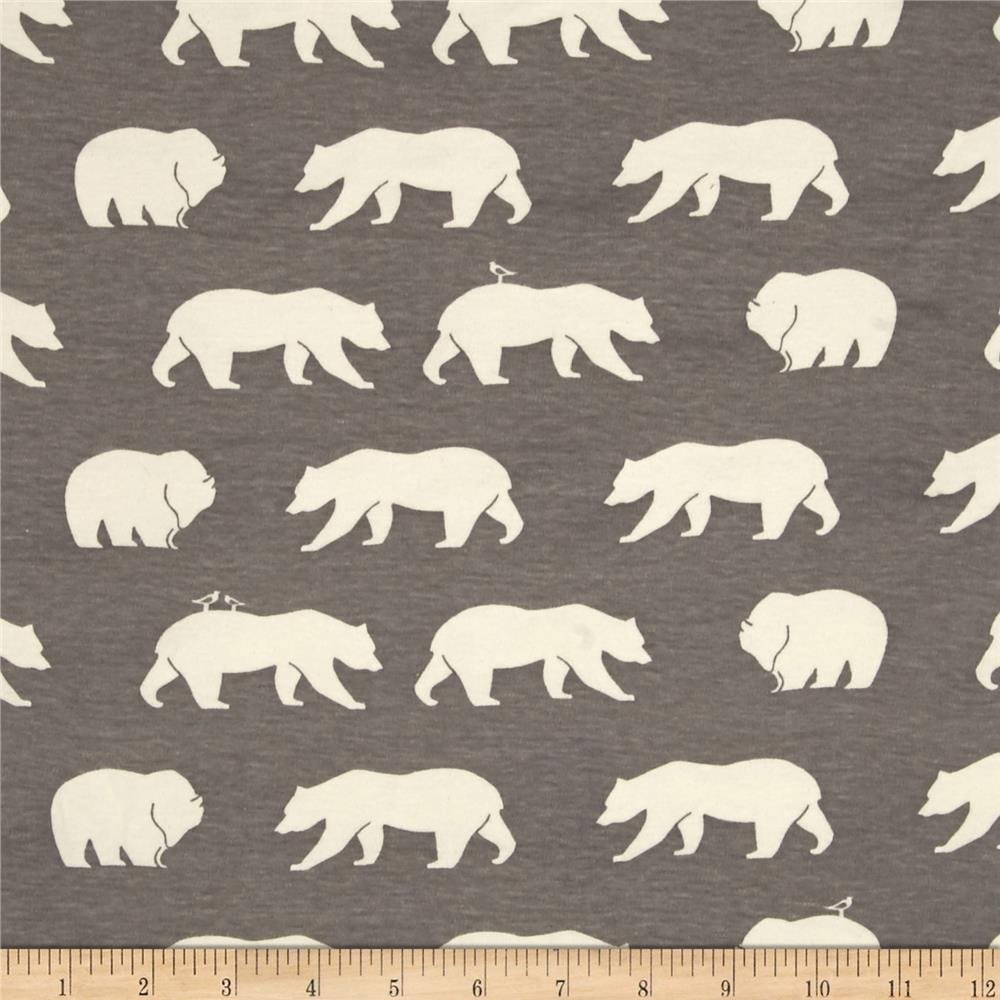 Birch Organic Bear Camp Interlock Knit Bear Hike Shroom