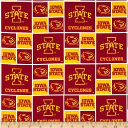 Collegiate Cotton Broadcloth Iowa State University Red Fabric
