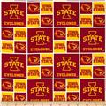 Collegiate Cotton Broadcloth Iowa State University Red