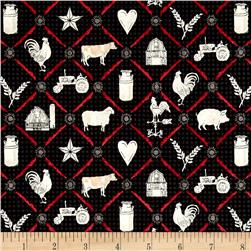 Farm to Table Animal Grid Black
