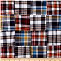 Madras Patchwork Plaid Navy Red