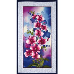 "Orchid Shadows 24"" Panel Blue/Orchid"