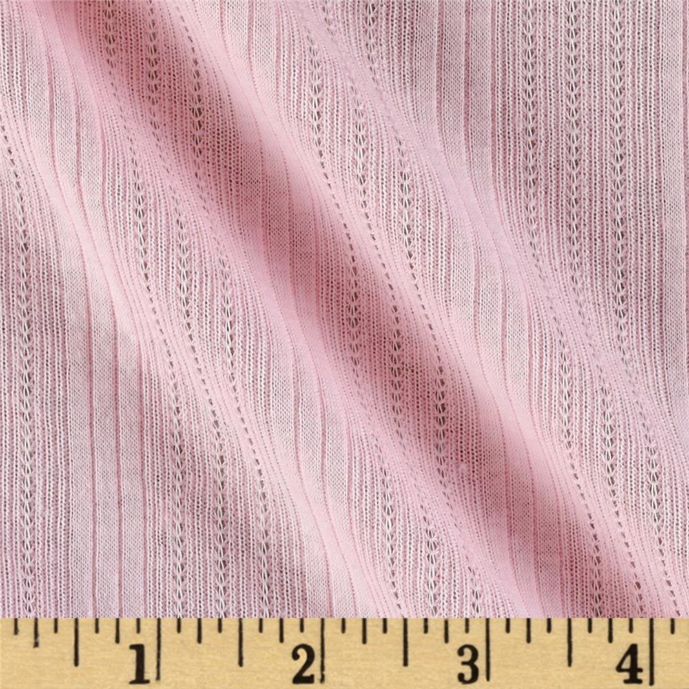 Designer Cotton Pointelle Knit Baby Pink