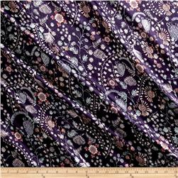 Liberty of London Belgravia  Silk Satin Charmeuse Crochet Meadow Purple/Pink