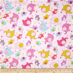 Flannel Elephants Multi