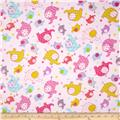 Flannel Elephants Pink