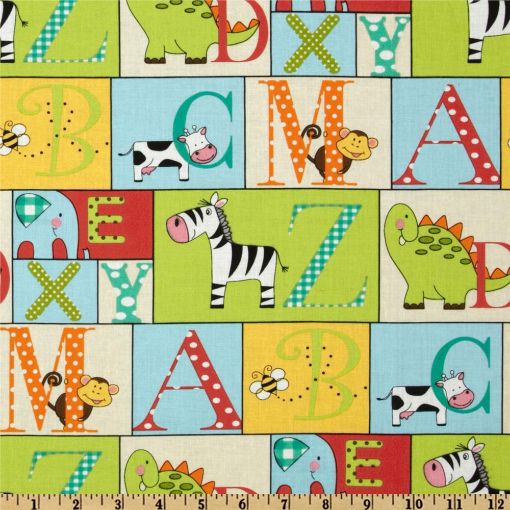 A to Zoo Patchwork Green