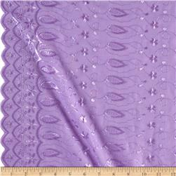 Fancy Allover Eyelet Lilac