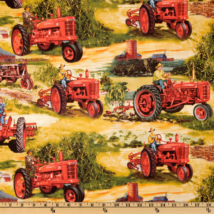 International Harvester Red Tractor Red/Gold