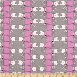 Ric Rac Rabbits All Dressed Up Grey/Pink