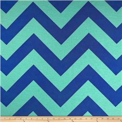 RCA Chevron Sheers Navy/Surf Fabric