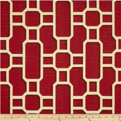 Home Accents Mandarin Slub Rouge