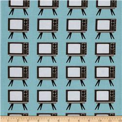 Riley Blake Geekly Chic TV Aqua