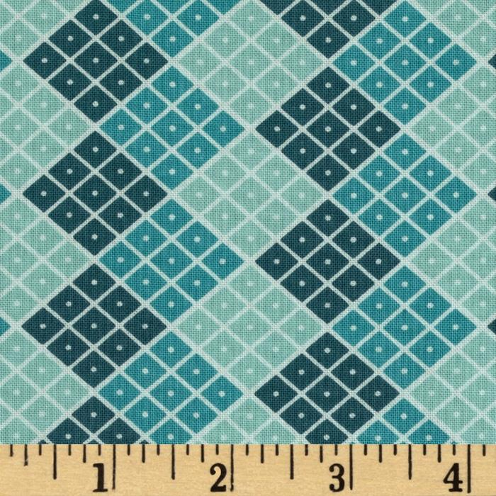 Riley Blake Indie Chic Checkers Blue